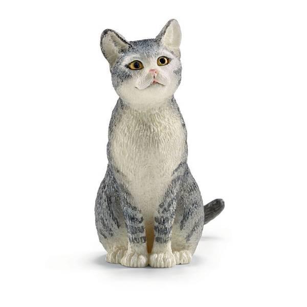 Cat Sitting Figurine