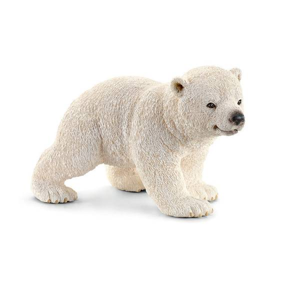 Polar Bear Cub Walking Figurine