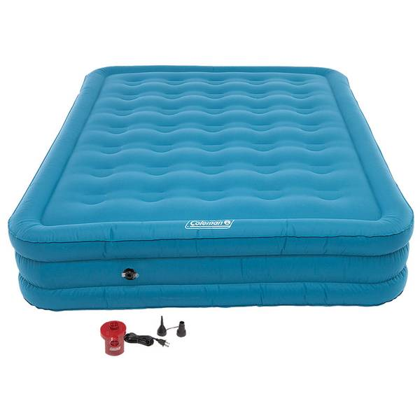 With Queen Air Bed Pump: Coleman Dura Plus Queen Air Bed With Pump