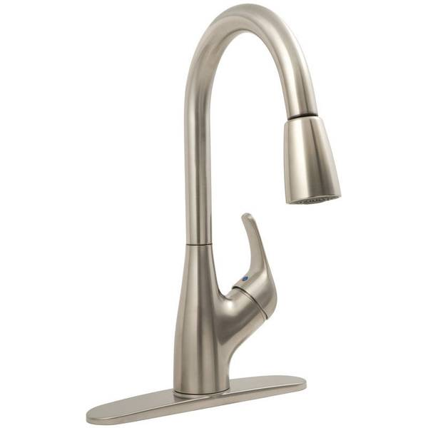 Brushed Nickel Kitchen Pull Down Faucet