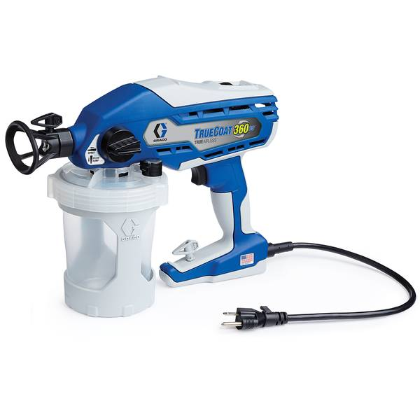 Graco truecoat 360 dual speed paint sprayer at blain 39 s for Airless paint sprayer for kitchen cabinets