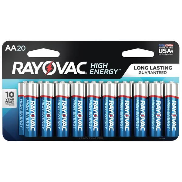 """Alkaline """"AA"""" 20-Carded Batteries"""