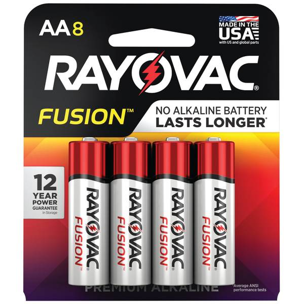 Fusion AA Alkaline Batteries 8-Pack