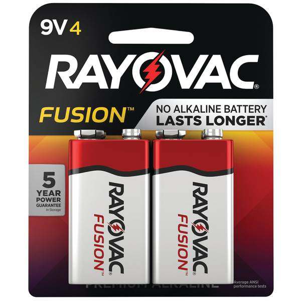 Fusion High-Performance 9V Alkaline Batteries 4-Pack