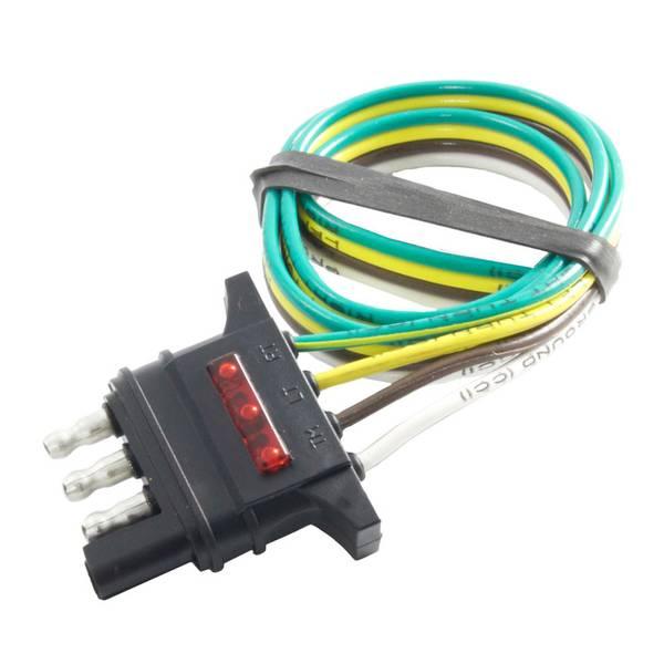 "18"" LED Test 4-Flat Connector Trailer End"