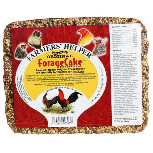 C & S Products 06303 Original Forage Cake Chicken Supplement, 2-1/2-Lbs. - Quantity 6