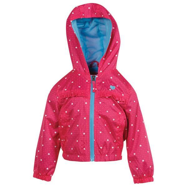 Infant Girl's Fuchsia Heart Ruffle Jacket