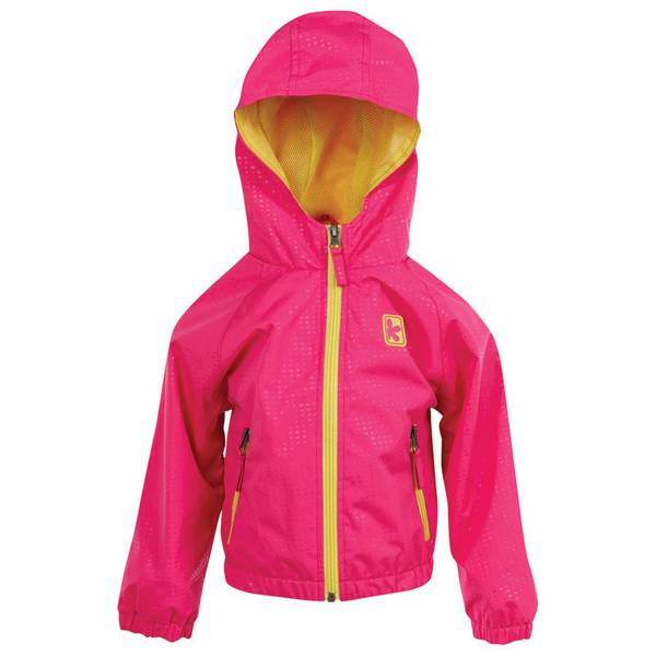 Infant Girl's Pink Glow Athletic Pop Jacket