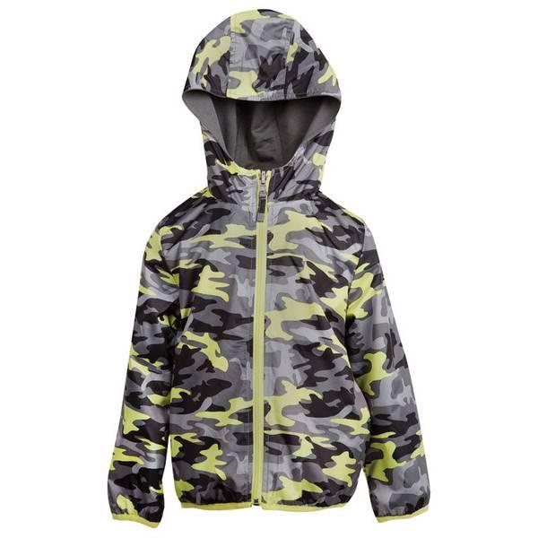 Boy's Charcoal Reversible Camo Jacket