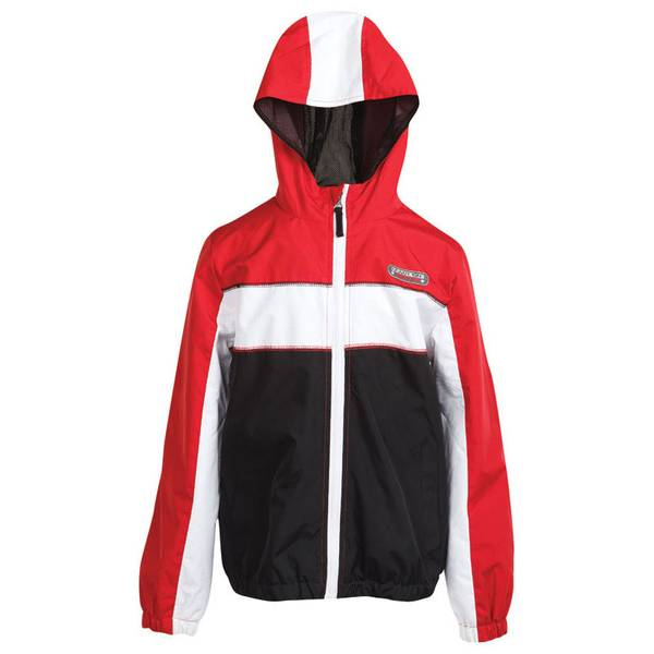 Boy's Black Colorblock Athletic Jacket