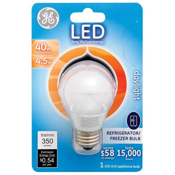 ge 4 5 watt refrigerator freezer bulb medium base light. Black Bedroom Furniture Sets. Home Design Ideas