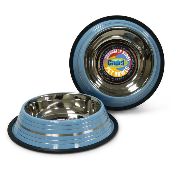 Non-Skid Stainless Steel Dog Bowl Assortment