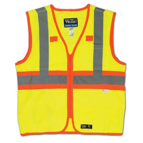 Big Men's ANSI II Premium Hi-Visibility Safety Vest
