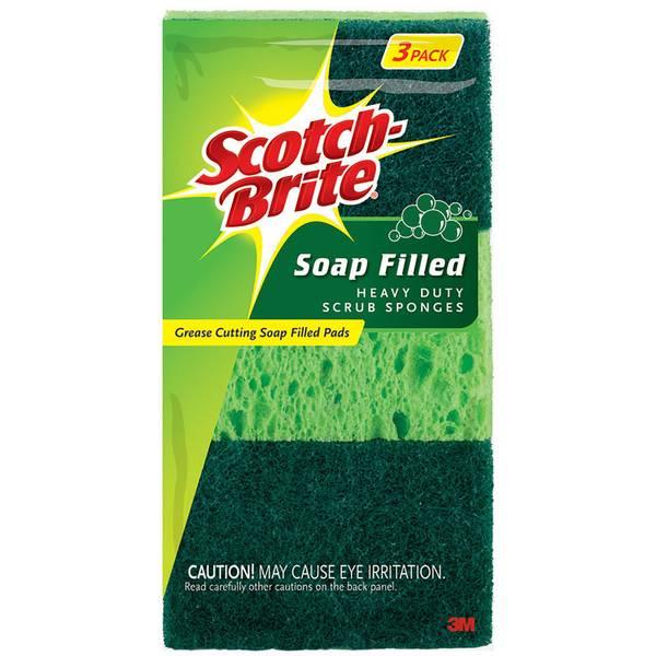 Soap Filled Heavy Duty Scrub Sponges