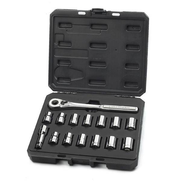 Inch and Metric Easy-Read Socket Wrench Set