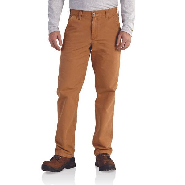 Men's  Relaxed Fit Washed Duck Work Dungarees