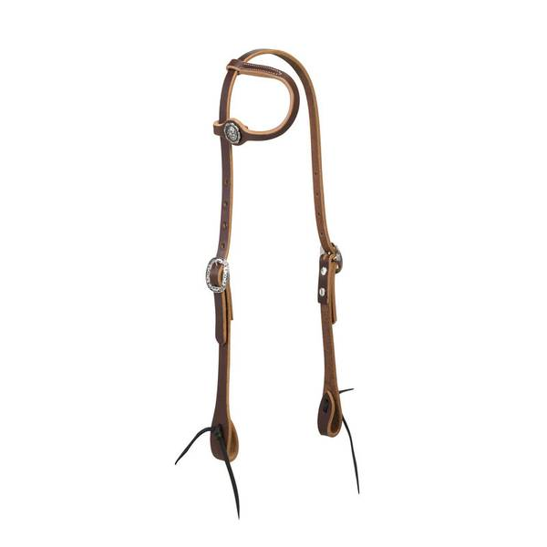 Sunset Harness Leather Sliding Ear Headstall