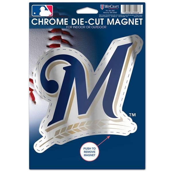 Milwaukee Brewers Chrome Die-Cut Magnet