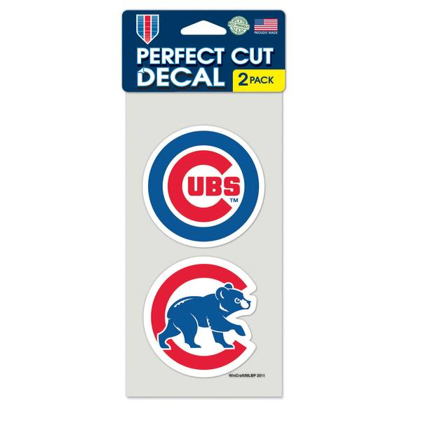 Chicago Cubs Perfect Cut Decal - 2 Pack