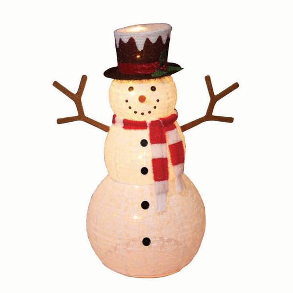 """52"""" Pop-Up Snowman with Scarf"""