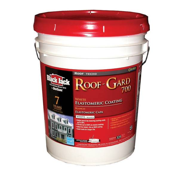Black Jack Roof Gard 700 White Elastomeric Roof Coating