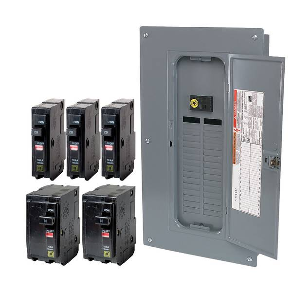 100-Amp 32-Space 32-Circuit Indoor Main Breaker Load Center with Cover Value Pack