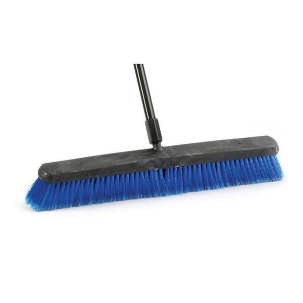 """24"""" Indoor & Outdoor Push Broom With Metal Handle"""
