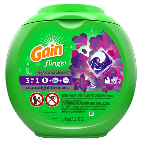 Gain Flings Laundry Detergent Pods