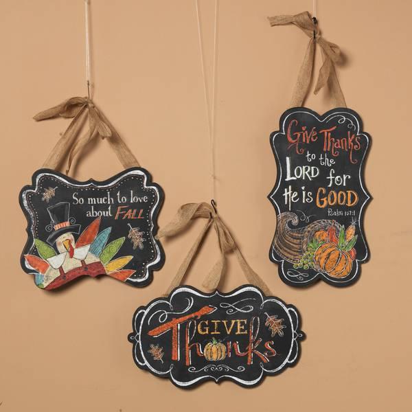 Wood Harvest Chalkboard Sign Assortment
