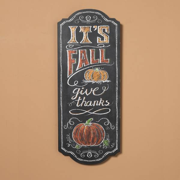 It's Fall Give Thanks Chalkboard Sign