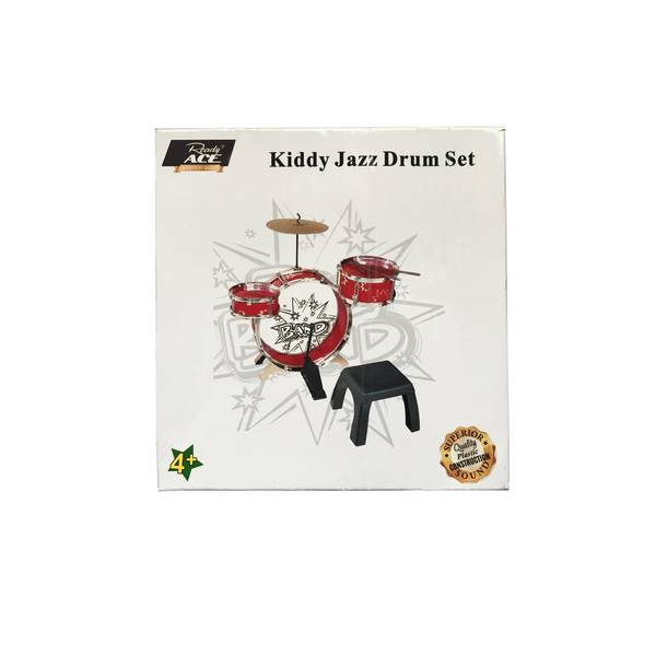 Kiddy Jazz Drum & Stool Set