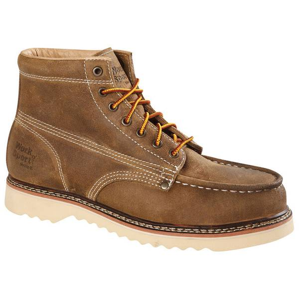 Men's Brown 9556 Steel Toe Work Boots