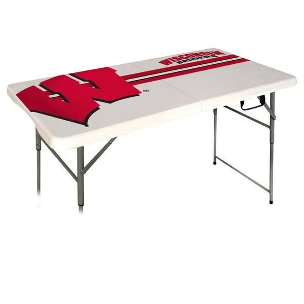 Wisconsin Badgers 4' Folding Table