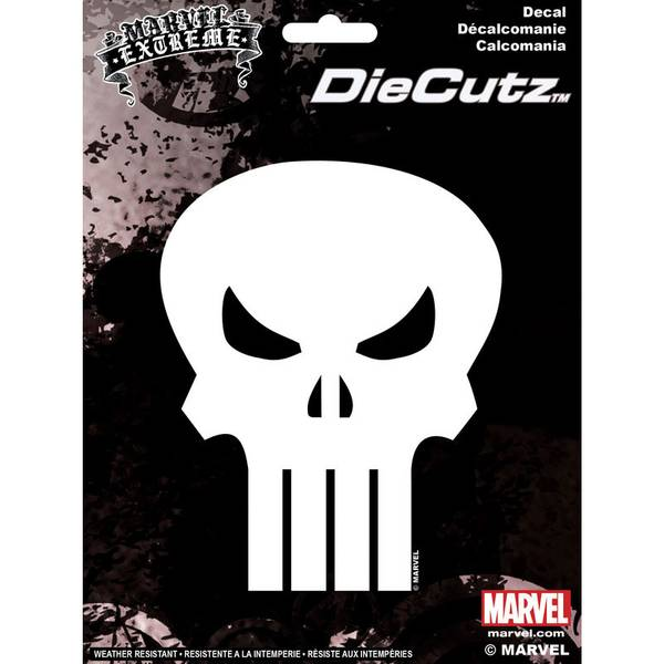 Punisher Skull Die Cutz Decal