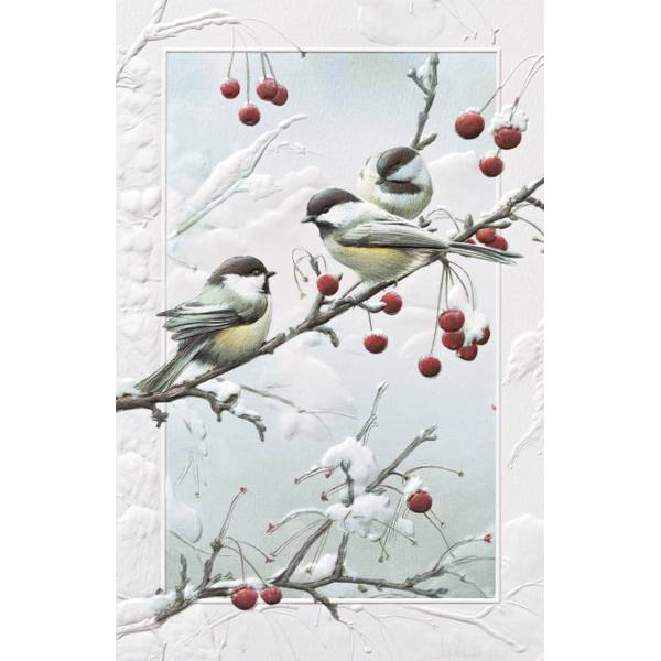 Cheeky Chickadees Christmas Cards