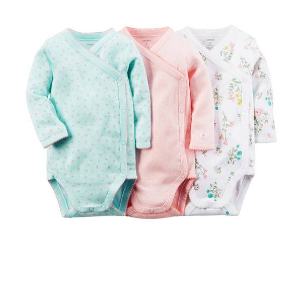 Baby Girl's Multi-Colored Side-Snap Bodysuits