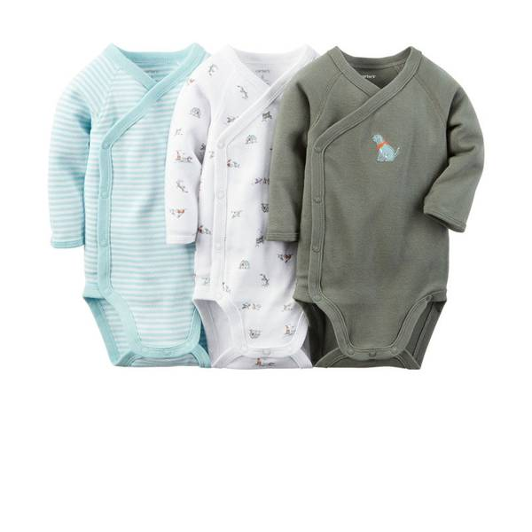 Baby Boy's Multi-Colored Side-Snap Bodysuits