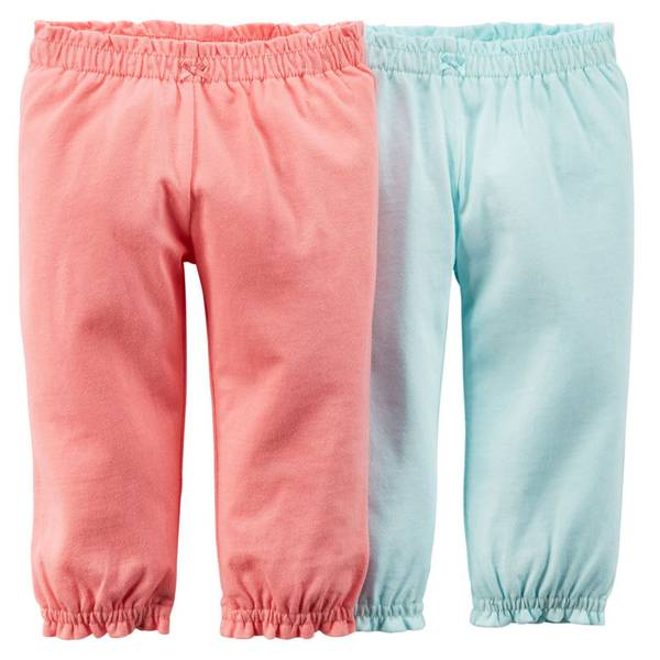 Baby Girl's Pink & Blue Pants
