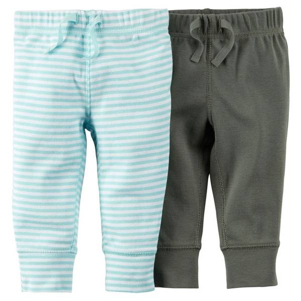 Infant Boy's Olive Stripe Pants