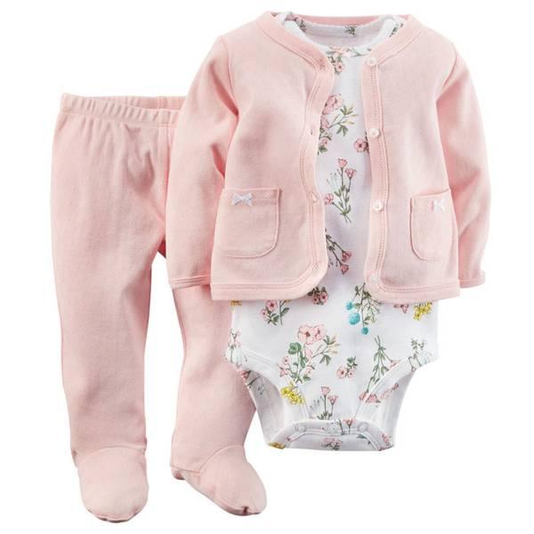 Baby Girl's Pink Cardigan Set