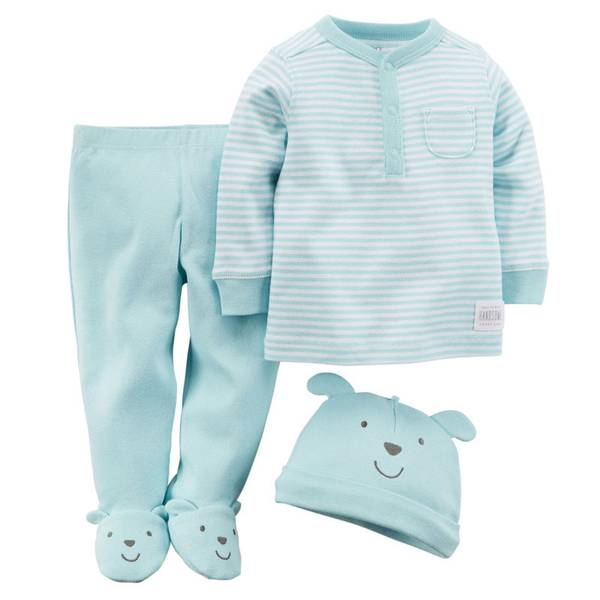 Baby Boy's Blue Puppy Footed Set
