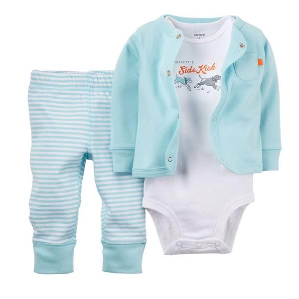 Baby Boy's Light Blue Cardigan Set