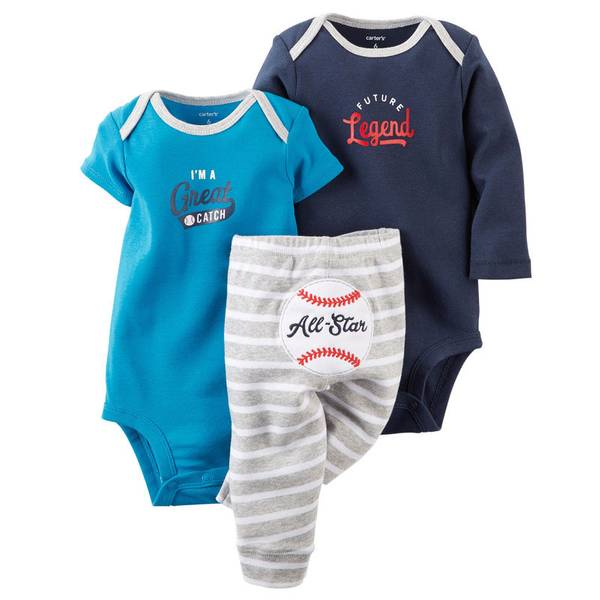 Baby Boy's Baseball Bodysuit & Pant Set