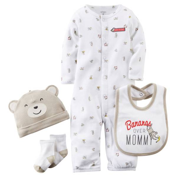 Baby Boy's Multi-colored 4-Piece Take Home Set