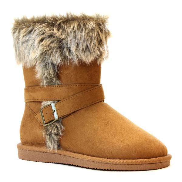 western chief s brown kiera microfiber faux fur boots