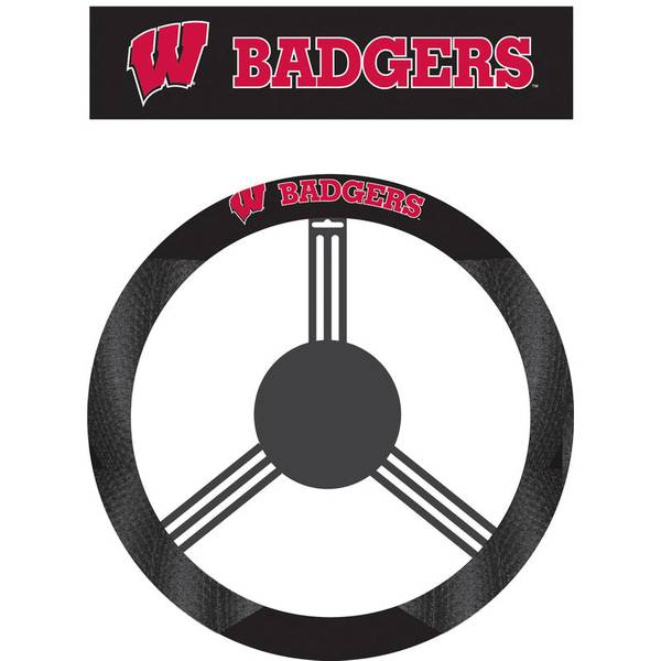 University of Wisconsin Badgers Polysuede Steering Wheel Cover
