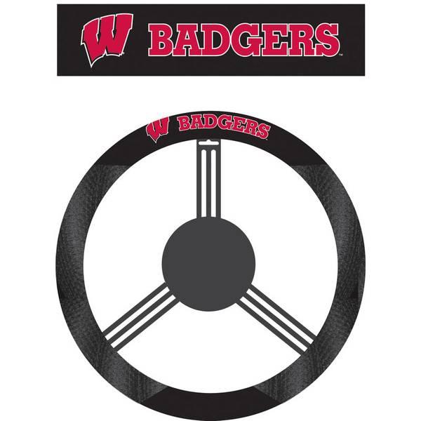 University of Wisconsin Badgers Polysuede Steering Wheel Cover
