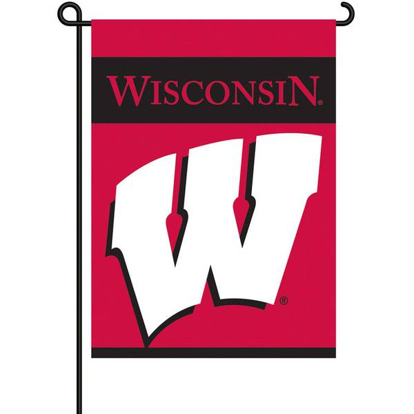University of Wisconsin Badgers 2-Sided Garden Flag
