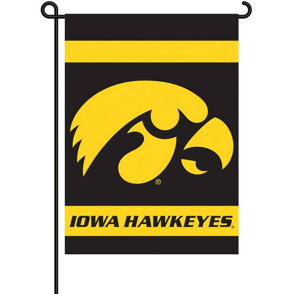 University of Iowa Hawkeyes Two Sided Garden Flags