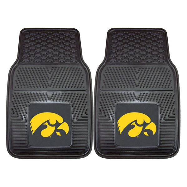 University of Iowa Heavy Duty 2-Piece Vinyl Car Mats